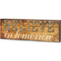 Believe in Tomorrow Light-Up Marquee Message Sign