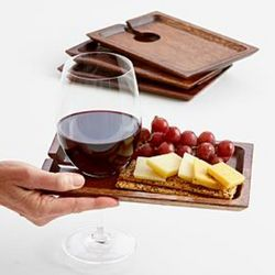 Wine Holder Wooden Appetizer Trays