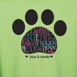 Dog Owner Personalized T-Shirt