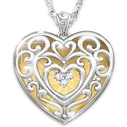 Granddaughter's Glowing with Beauty Engraved Diamond Pendant