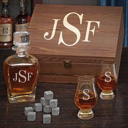 Classic Personalized Monogram Scotch Gift Set