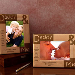 Personalized Daddy Me Wooden Picture Frame Findgiftcom