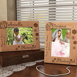 Personalized Flower Girl Wooden Picture Frame