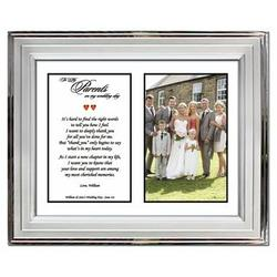 Wedding Thank You Framed Poem for Parents