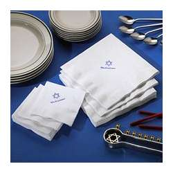 Personalized Star of David Napkins And Towels Set