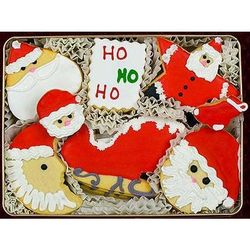 Santa Claus Hand Decorated Cookie Gift Tin