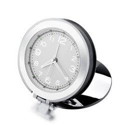Personalized Silver Travel Pocket Alarm Clock