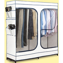 "60"" Portable Closet with Window in White"