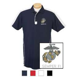 USMC EGA & Semper Fi Technical Performance Polo Shirt