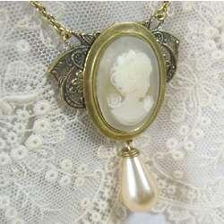 Wedding Victorian Cameo Necklace