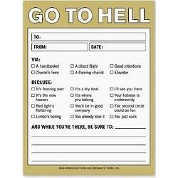 Go to Hell Nifty Notepad