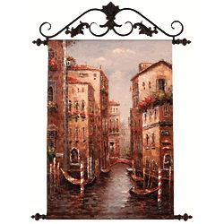 Grand Canal Painted Canvas Tapestry
