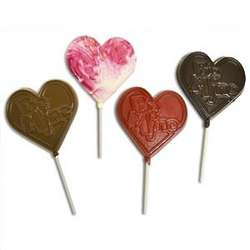 Be Mine Chocolate Heart Pops