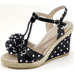 Polka Dot Wedge Shoe