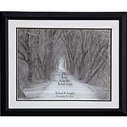 Personalized Joy is the Journey Framed Print