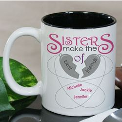 Personalized Sisters Make The Best Friends Mug