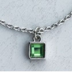 Pray Square Peridot Necklace