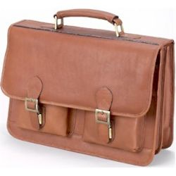 Soft Vaqueta Leather Navigator Briefcase