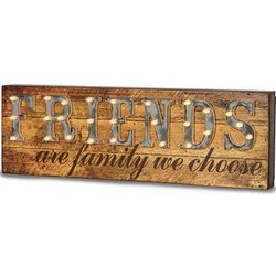 Friends are Family We Choose Light-Up Marquee Message Sign