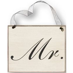 Mr. or Mrs. Wooden Sign in Script