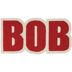 Bob Hooked Name Rug