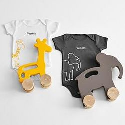 Baby One Piece Bodysuit and Toy Gift Set