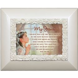 First Communion Easel Back Cream Frame Photo Album