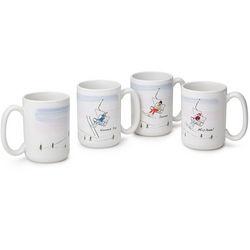 Personalized Family Ski and Snowboard Mugs