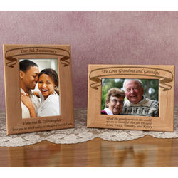 Personalized Make Your Own Banner Title Wooden Picture Frame