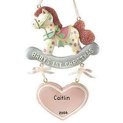 Personalized Baby's 1st Christmas Rocking Horse Ornament