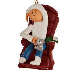 TV Watcher Christmas Ornament
