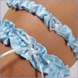 Blue Crush Wedding Garter with Tossing Garter