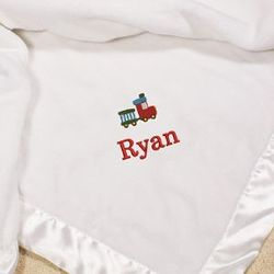 Embroidered Icon Fleece Blanket