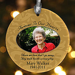 Personalized Photo Memorial Christmas Ornament