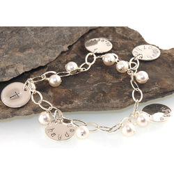 Godmother Personalized Handstamped Charm Bracelet
