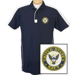 US Navy Logo Technical Performance Polo Shirt