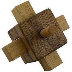 Lock Wooden Puzzle Brain Teaser