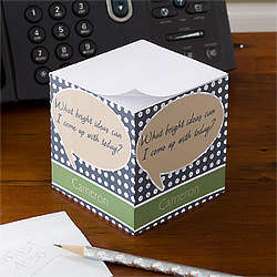 Personalized Notepad Paper Cube - Bright Ideas