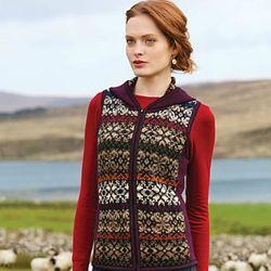 Silvia Hooded Alpaca Vest
