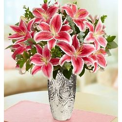 Pink Valentine's Day Lily Bouquet