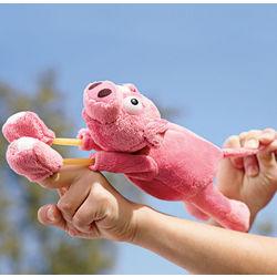 Plush Barnyard Animal Slingshot Toy