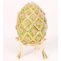Rose Garden Musical Egg Trinket Box