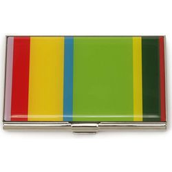 Stainless Steel Striped Card Case