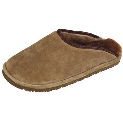 Men's Chestnut Fleece Lined Scuff Slippers