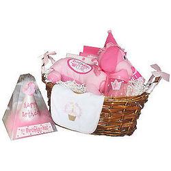 First Birthday Celebration Pink Gift Basket