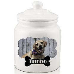 Custom Dog Photo Treat Jar