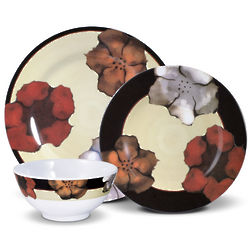 Poppies Melamine Dinnerware Set