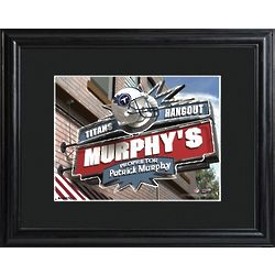 Tennessee Titans Pub Sign Personalized Print