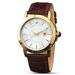 For You, Forever Men's Watch with Brown Leather Band