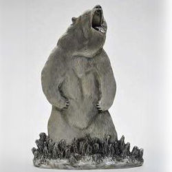 Pewter Grizzly Bear Figurine